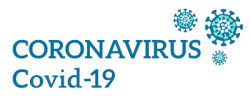 Coronavirus 2019-nCoV. Inscription and vector drawing.